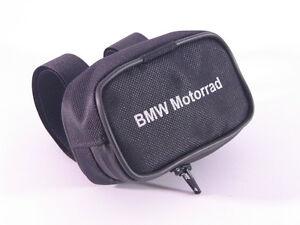 Porta telepass con scritta  BMW Motorrad nero per manubrio moto cerniera