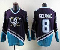 Vintage Mighty Ducks Ice Hockry Jerseys 8 SELANNE Ice Hockey Jersey Stitched