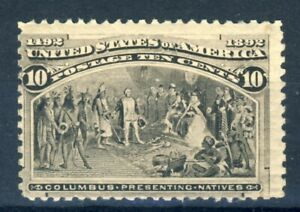 1893 United States MNH OG 10 Cents Columbian, very fresh and clean!