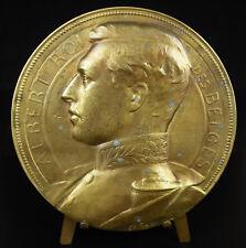 Médaille 1900 12cm Albert Ier Roi des Belges Belgique prince Saxe-Cobourg-Gotha