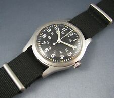 Vintage Hamilton Stainless Steel GG-W-113 US Military Hacking Mens Pilots Watch