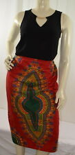 Boho Africa Hippie Dashiki Skirt Size XL /2XL see Measurement #N670 NWOT