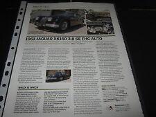 Jaguar XK150 3.8 SE FHC Auto  Article reg no IME367