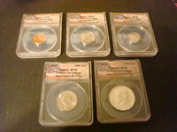 1965 Kennedy Presidential Edition Special Mint Set-All ANACS SP66 Cent thru Half