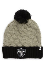 621dc085887 Oakland Raiders NFL Knit Pom Beanie (Grey Black) Women s OSFA Raiders  Winter Cap