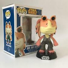 Funko Pop Star Wars JAR JAR BINKS #27 BOBBLE HEAD Vinyl Figure In Box