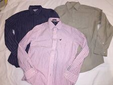 LOT of 3 American Eagle & Banana Republic Long Sleeve Button Shirts MENS M