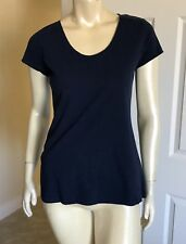 Women's Style & Co Sport Tee Size Small Navy Blue The Essential Top Nwt