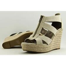 Moda Spana Kinsy Women US 7 Nude Wedge Sandal Pre Owned  1387