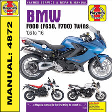 BMW F800 F800S F800ST F800GS F800R F650GS Twins 2006 - 2016 Haynes Manual 4872