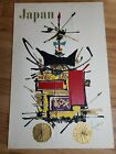 Vintage Japan Travel Poster Original 1968 - Georges Mathieu Air France Trimmed
