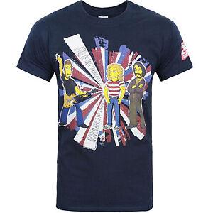 The Simpsons Who Spécial Conte De Deux Springfields Officiel Marine T-Shirt 8C