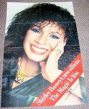 "SHIRLEY BASSEY RARE UK RECORD COMPANY PROMO POSTER ""THE MAGIC IS YOU"" ALBUM 1979"