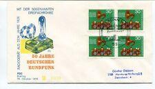 1973 50 Jahre Deutscher Rundfunk Sogenannten Dreifachrohre Radiogerat Bonn SPACE