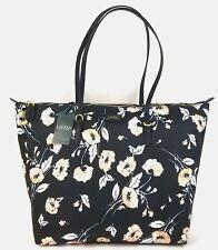 Ralph Lauren Tote Medium Canvas Chadwick Black Floral Handbag Top Zip 13e54d25cd082