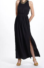 Chelsea Flower Blaise Halter Maxi Dress Size Large Black NW ANTHROPOLOGIE Tag