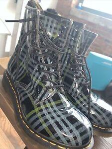 Dr. Martens 1460  Blue Tartan Plaid Boots - Women's 8 [39] ~ $160.00