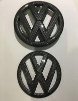 VW GRILLE HATCH Carbon fiber Style Badge Set for VOLKSWAGEN GOLF 6 MK6 GTI R TDI