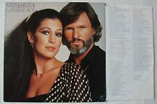 KRIS KRISTOFFERSON RITA COOLIDGE (LP 33T) NATURAL ACT - USA 1978