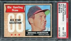 "1968 Topps #365 Brooks Robinson ""All Star"" PSA 8 NM-MT"