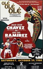 JULIO CESAR CHAVEZ vs JOSE LUIS RAMIREZ 8X10 PHOTO BOXING POSTER PICTURE