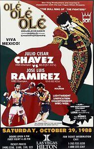 JULIO CESAR CHAVEZ vs JOSE LUIS RAMIREZ 8X10 PHOTO BOXING POSTER PICTURE