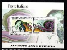 ITALIA Gomma integra, non linguellato 2000 ms2646 NUOVO MILLENNIO-MEDITAZIONE E ESPRESSIONE Mini Foglio