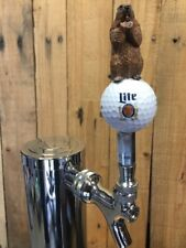 Caddyshack Golf TAP HANDLE Vintage Miller Lite Beer Ball Gopher Titleist