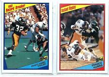 **Lot of 2** FRANCO HARRIS 1984 84 Topps - 1 each Card #'s 3 & 166 - Steelers