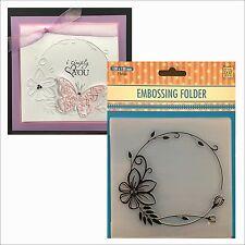 FLOWERS FRAME embossing folder EFE023 - Nellie Snellen embossing folders 5x5