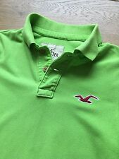 GORGEOUS HOLLISTER GREEN POLO SHIRT S SMALL