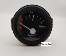 "52 DIA 2"" BLACK DIAL OIL PRESSURE GUAGE METER FUEL TANK METER ANALOGUE 0-7 BAR"