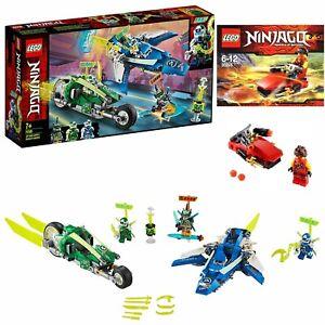 LEGO NINJAGO Jay and Lloyd's Velocity Racers set 71709 + Kai Drifter Polybag