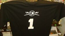 CAPTAIN MORGAN T Shirt X Large Captain ONE Black With White Print Back & Front