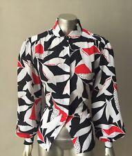 Retro Oriental Vintage 90s Button Poet Sleeve Peter Pan Collar Top Blouse sz 10