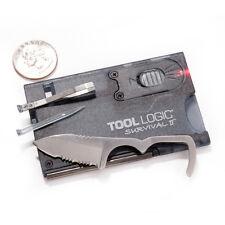 TOOL LOGIC BLACK SURVIVAL CARD SVC 2 - FIRE STARTER, KNIFE Urban Survival Tool
