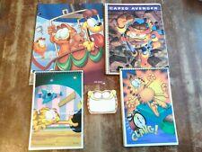 Vintage NOS 1978 Garfield Jim Davis Stationary Lot Notebooks Folder Sticky Notes