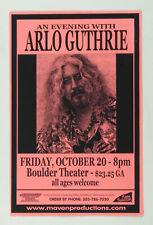 Arlo Guthrie Poster 2000 Oct 20 Boulder Theater