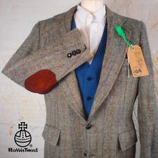 40R HARRIS TWEED Blazer Jacket Vintage Blue Herringbone Hacking Wedding #222