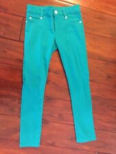 Persnickety Hayden Skinny Pants Turquoise Girl's Size 7 7T EUC