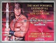 CONAN THE DESTROYER Movie RARE Arnold Schwarzenegger Poster Fabric24x36 E-1265