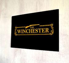 The Winchester  Shaun of the Dead Pub Sign Orange A4 metal plaque