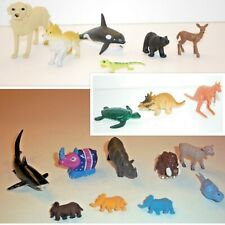 Safari Toy Animal Figures~Mixed Lot of 18 (Plastic/Rubber)
