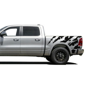 Vinyl Sticker for Dodge Ram Crew Cab 1500 Sport Bed Side Graphics Design Decal