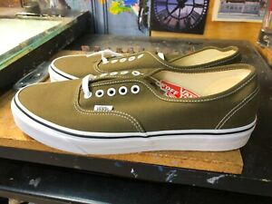 Vans Authentic Beech True White Canvas Size US 11 Men New Skate Sneakers Green