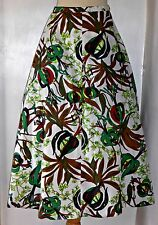 VINTAGE ORIGINAL 50S BOLD TROPICAL PRINT FULL SKIRT UK 10 HAWAIIAN ROCKABILLY