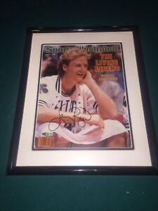 Larry Bird Signed Sports Illustrated Framed Upper Deck Authentication