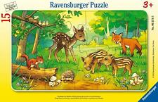Tierkinder des Waldes. Rahmenpuzzle 15 Teile (Game)