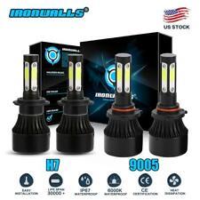 4-Side H7+9005 LED Headlight Bulb Kit For Mazda 3 07-09 Mazda 6 11-13 Hi/Lo Beam