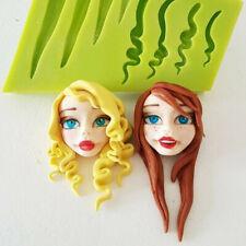 Doll Hair Silicone Cake Decor Mold Fondant Sugarcraft Chocolate Baking Mould DIY